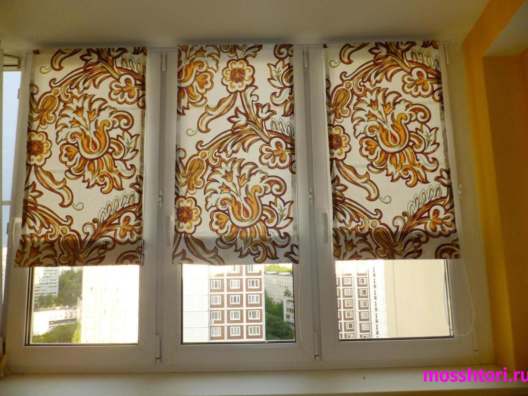 Шторы на балкон с узором